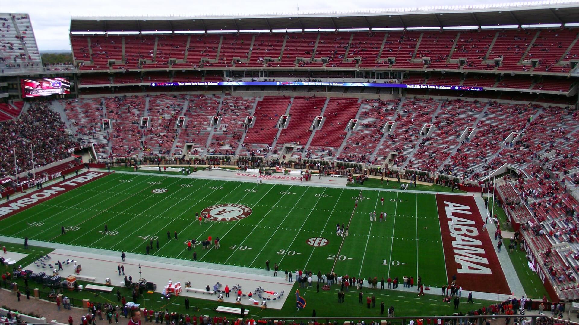 Alabama Crimson Tide Stadyumu | Korumalı Futbol Türkiye